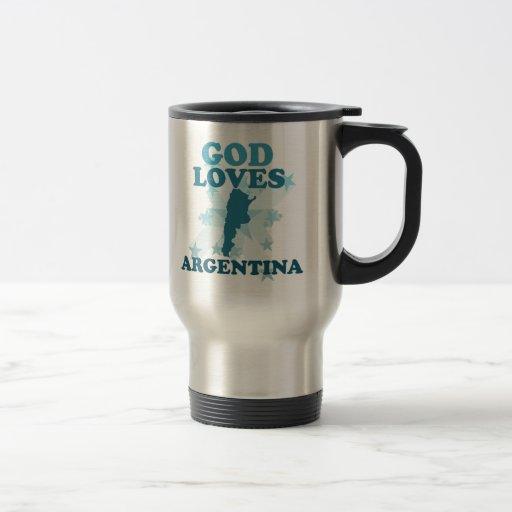Dios ama la Argentina Taza De Viaje De Acero Inoxidable