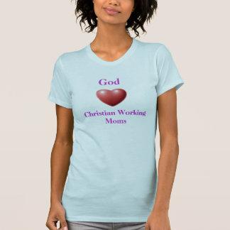 Dios ama la camiseta cristiana de las mamáes de playeras
