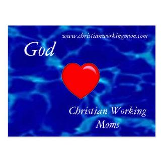 Dios ama la postal cristiana de las mamáes de func