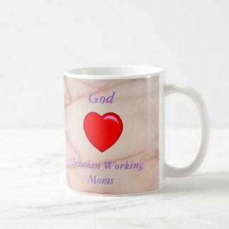 Dios ama la taza cristiana de las mamáes de funcio
