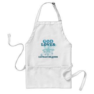 Dios ama las Islas Caimán Delantales