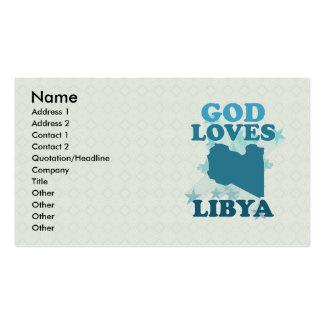 Dios ama Libia Tarjetas De Visita