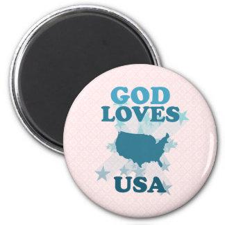 Dios ama los E E U U Iman De Nevera
