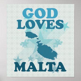 Dios ama Malta Poster