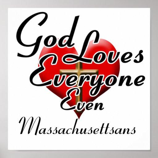 Dios ama Massachusettsans Posters