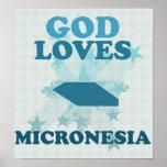Dios ama Micronesia Impresiones