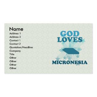 Dios ama Micronesia Tarjetas De Visita