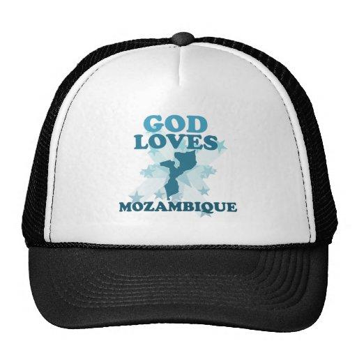 Dios ama Mozambique Gorras