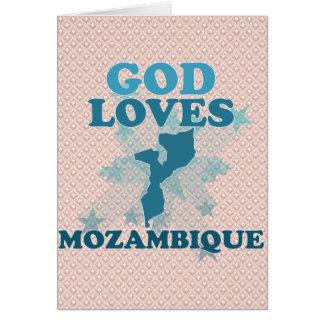 Dios ama Mozambique Tarjeta