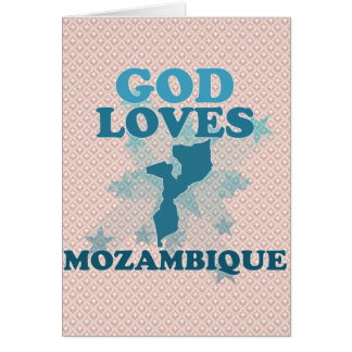 Dios ama Mozambique Tarjeta De Felicitación
