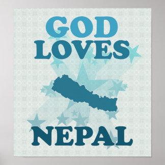 Dios ama Nepal Póster