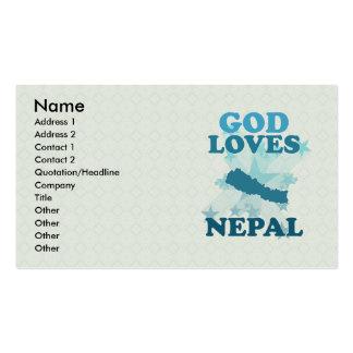 Dios ama Nepal Tarjetas De Visita