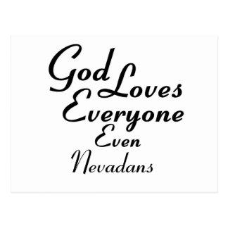 Dios ama Nevadans Postales