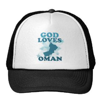 Dios ama Omán Gorras