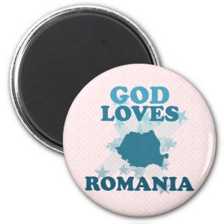 Dios ama Rumania Imán Redondo 5 Cm