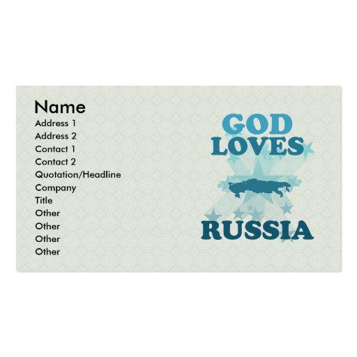 Dios ama Rusia Tarjetas De Visita
