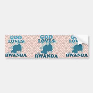 Dios ama Rwanda Pegatina De Parachoque