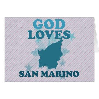 Dios ama San Marino Tarjeta De Felicitación