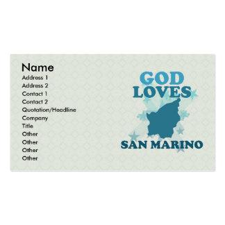Dios ama San Marino Tarjetas De Visita
