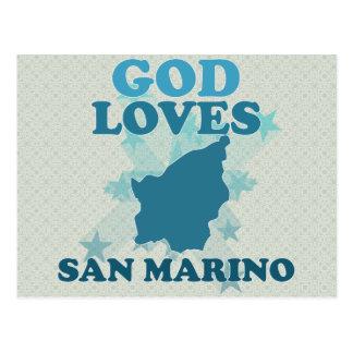 Dios ama San Marino Tarjeta Postal