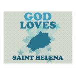 Dios ama Santa Helena Postales
