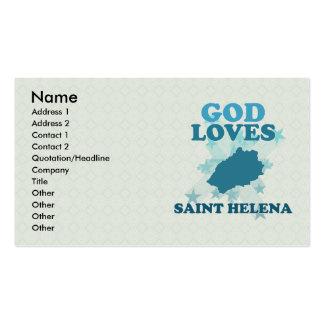 Dios ama Santa Helena Tarjetas De Visita