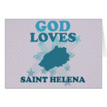 Dios ama Santa Helena Tarjetas