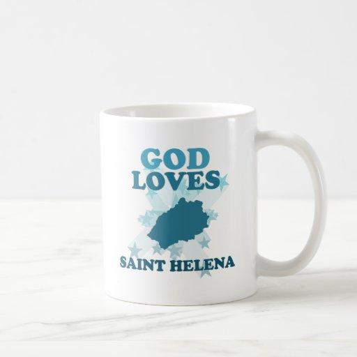 Dios ama Santa Helena Taza
