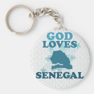 Dios ama Senegal Llaveros