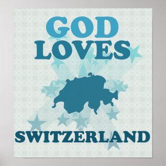 Dios ama Suiza Impresiones
