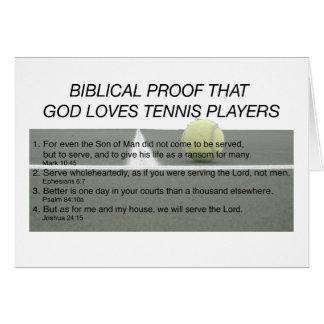 Dios ama tenis felicitacion
