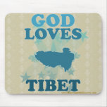 Dios ama Tíbet Alfombrillas De Ratones