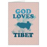Dios ama Tíbet Felicitacion