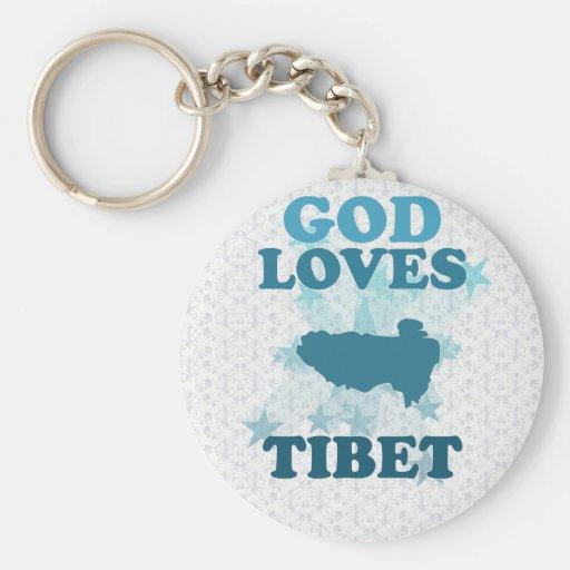 Dios ama Tíbet Llavero