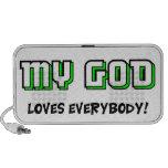 Dios ama todos mini altavoz