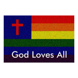 Dios ama todos póster