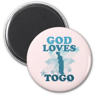 Dios ama Togo Imán Para Frigorífico