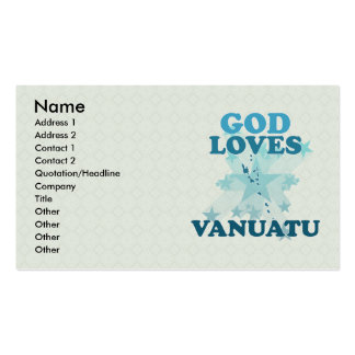 Dios ama Vanuatu Tarjetas De Visita