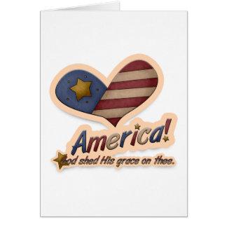 Dios americano vertió su tolerancia en Thee patrió Tarjetón