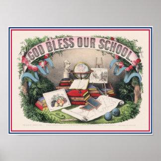 Dios antiguo bendice nuestra escuela impresiones
