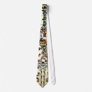 Dios azteca de la muerte de Xiuhtecuhtli Corbata Personalizada