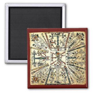 Dios azteca de la muerte de Xiuhtecuhtli Imán Cuadrado