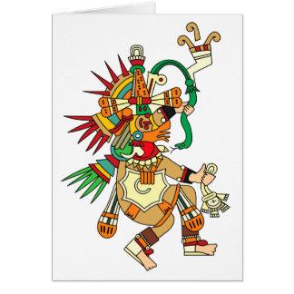 Dios azteca Quetzalcoatl Felicitacion