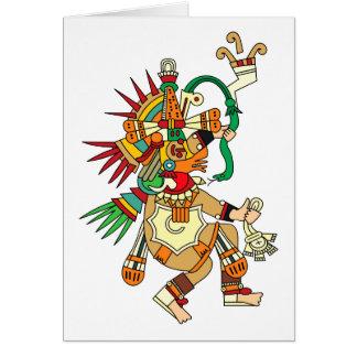 Dios azteca Quetzalcoatl Tarjeton