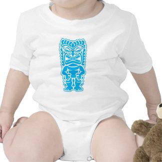 dios azul claro del guerrero del tótem del tiki fe camisetas
