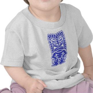 dios azul del guerrero del tótem del tiki feroz tr camiseta