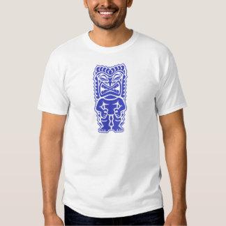 dios azul del guerrero del tótem del tiki feroz tr playeras