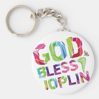Dios bendice a Joplin Llavero Redondo Tipo Pin