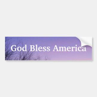 Dios bendice a la pegatina para el parachoques de  pegatina de parachoque