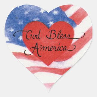 Dios bendice a los pegatinas del corazón de pegatina en forma de corazón